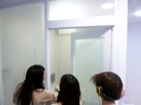 浴室の中にはお湯のミストが充満!湯気がたちのぼります。