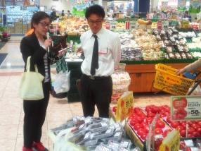 生鮮食品のプロ、マルナカ販売スタッフの方にも「おいしい」のコメントをいただきました。