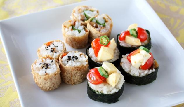 のっけ寿司と巻き巻き稲荷