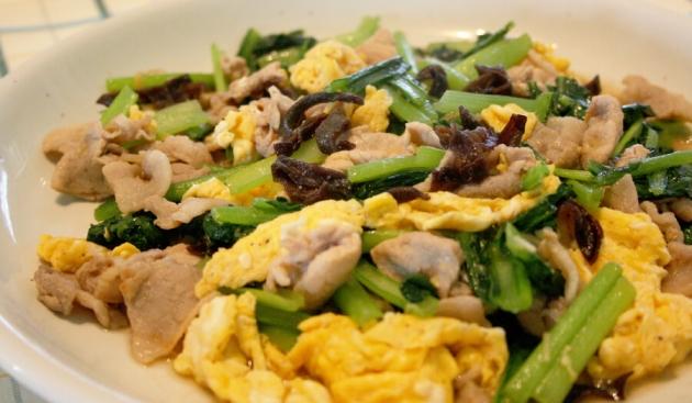 きくらげと卵の炒め物(木須肉)