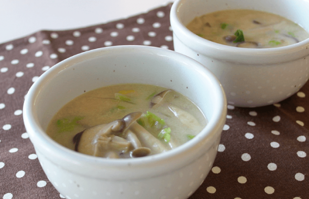 しいたけと白菜の豆乳スープ