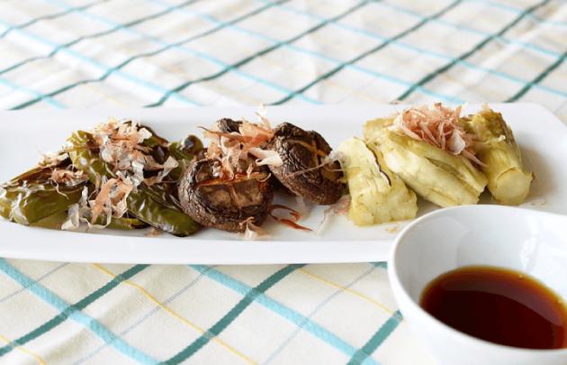 しいたけと夏野菜の簡単グリル焼き