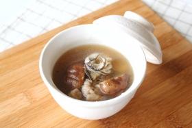 【レシピ】牡蠣としいたけの酸辣湯風スープ